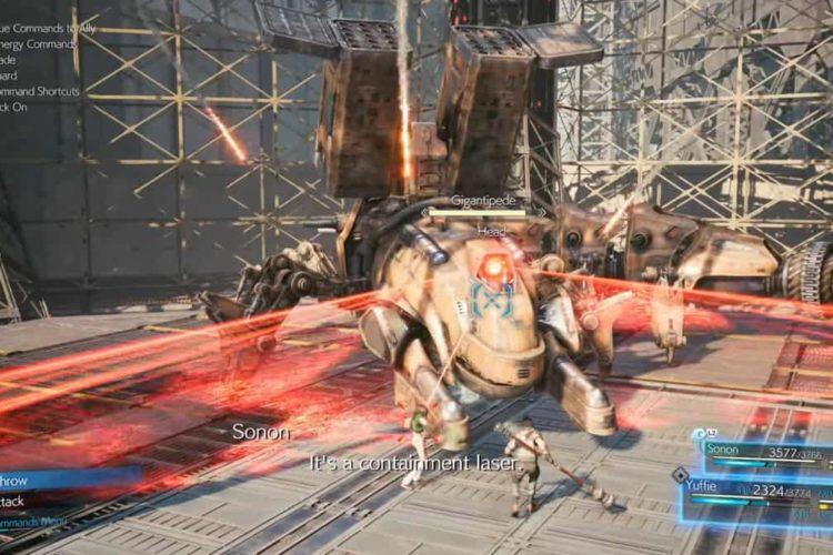 Final Fantasy 7 Remake Intergrade Gigantipede Boss