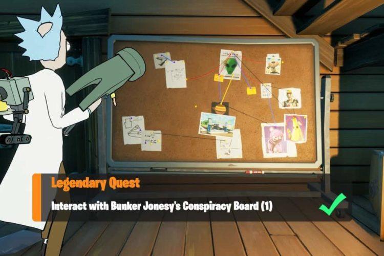 Fortnite Season 7 Bunker Jonesey Conspiracy Board Location