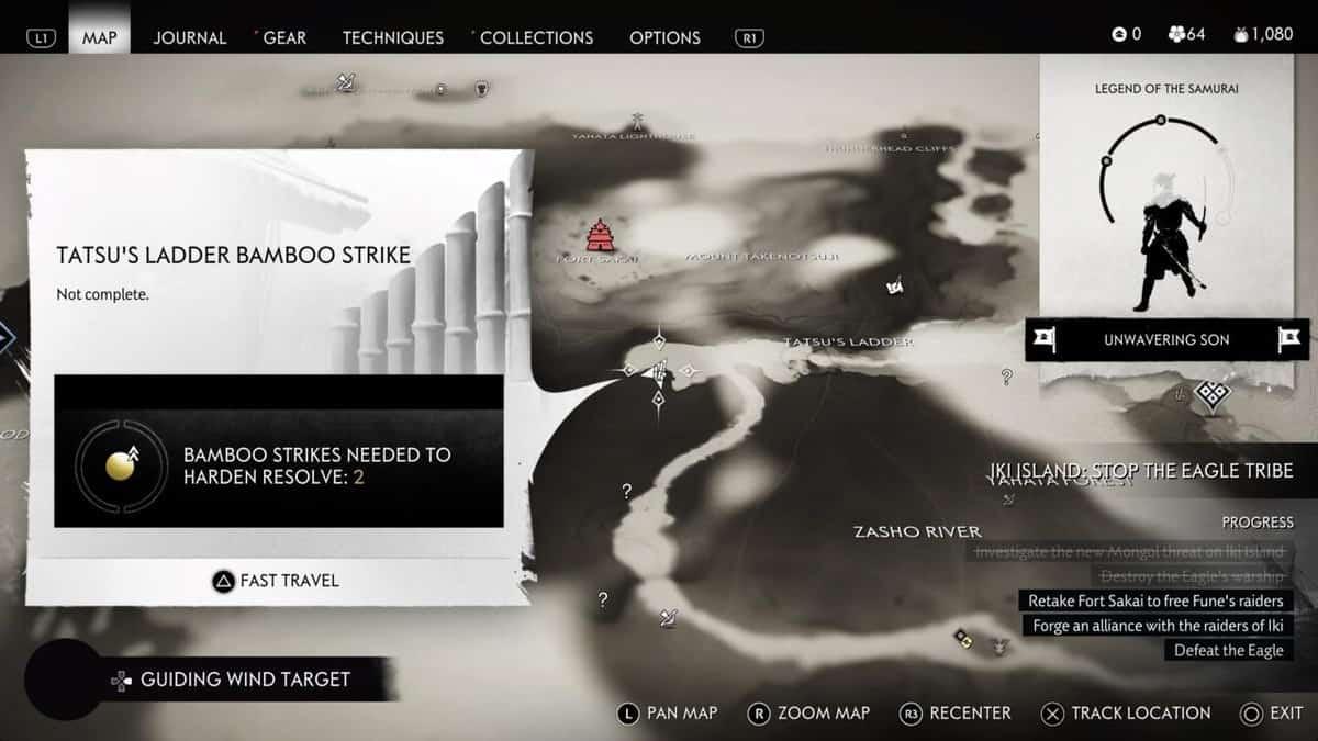 Призрак Цусимы Локации Бамбуковых ударов на острове Ики