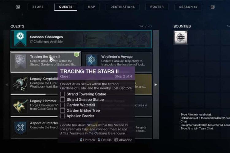Destiny 2 Week 2 Atlas Skew Locations