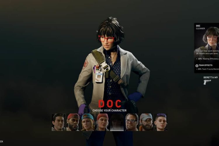 How to Play as Doc in Back 4 Blood