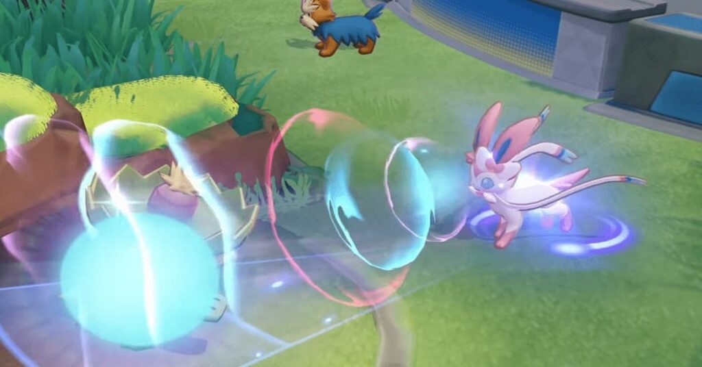 Скриншот трейлера Pokemon Unite
